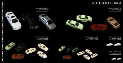 Autos a escala para maquetas